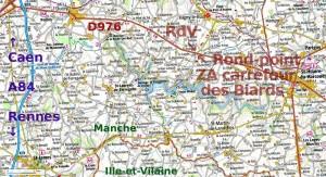 Carte régionale d'accès
